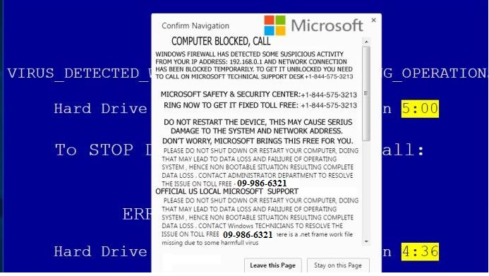 Easy guide to delete Error Code: 09-986-6321 Pop-up from the PC